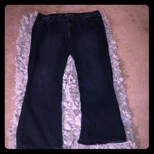 Lane Bryant Sz 24 MidRise Boot Cut Stretch Jeans